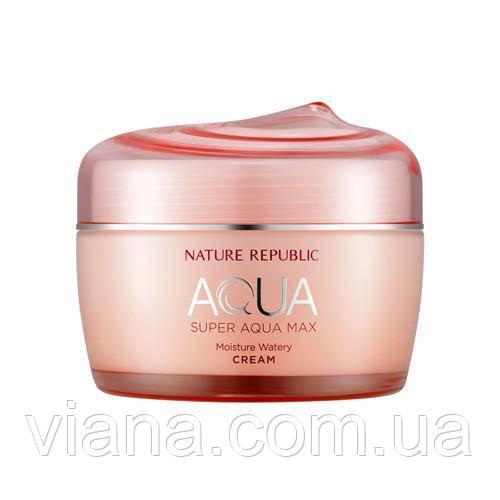 Увлажняющий крем для сухой кожи NATURE REPUBLIC Super Aqua Max Moisture