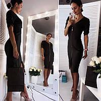 Черное женское платье (Код MF-191)