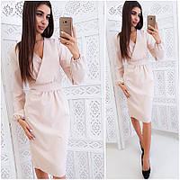 Платье-футляр цвета пудры Rebeka (Код MF-414)