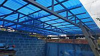 Профільний полікарбонат Suntuf (1,26х2м) синій 55%, фото 1