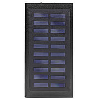 ✥Внешний аккумулятор Solar Water Cube Black 20000 mAh повер банк с солнечной батареей зарядное для гаджетов