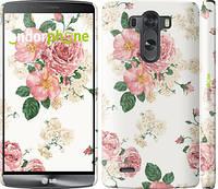"""Чехол на LG G3 dual D856 цветочные обои м1 """"2293c-56"""""""