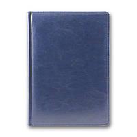 Ежедневник недатированный BRISK OFFICE SARIF А5(14,2х20,3) синий с фольгированным торцом