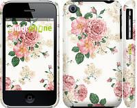 """Чехол на iPhone 3Gs цветочные обои м1 """"2293c-34"""""""