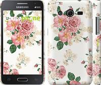 """Чехол на Samsung Galaxy Core 2 G355 цветочные обои м1 """"2293c-75"""""""