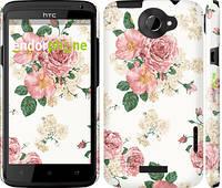 "Чехол на HTC One X цветочные обои м1 ""2293c-42"""