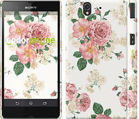 "Чехол на Sony Xperia Z C6602 цветочные обои м1 ""2293c-40"""