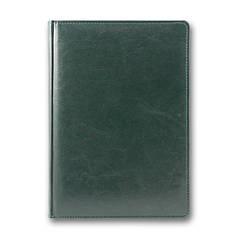 Ежедневник недатированный BRISK OFFICE SARIF А5(14,2х20,3) зеленый с фольгированным торцом