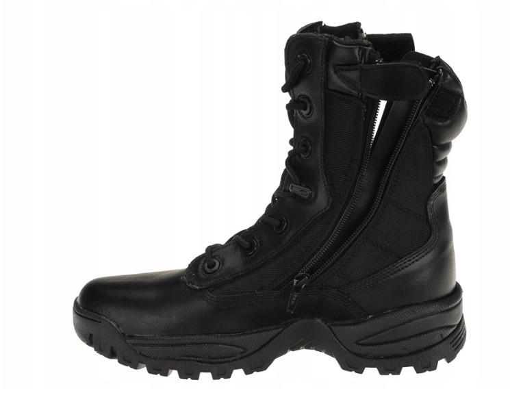 Тактические черные высокие сапоги с двумя молниями,Mil-Tec® р.39-46