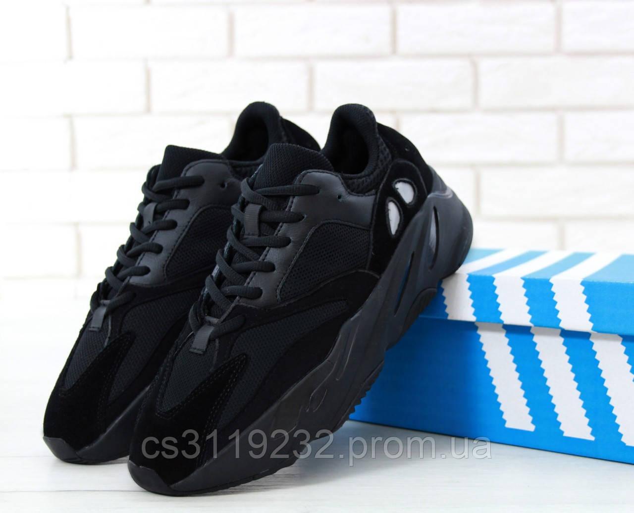 Мужские кроссовки Adidas Yezzy Boost Wave Runner  700 (черные)