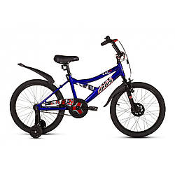 Велосипед детский ARDIS Brave Eagle 16 СИНИЙ + боковые колеса + крылья