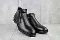 Ботинки мужские Vivaro 135 черные (натуральная кожа, зима)