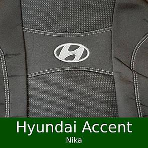Чехлы на сиденья Hyundai Accent MC/RB/Solaris (Nika)
