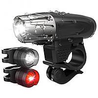 Велосипедная фара фонарь набор 2 в 1 Kroll + подарочная упаковка