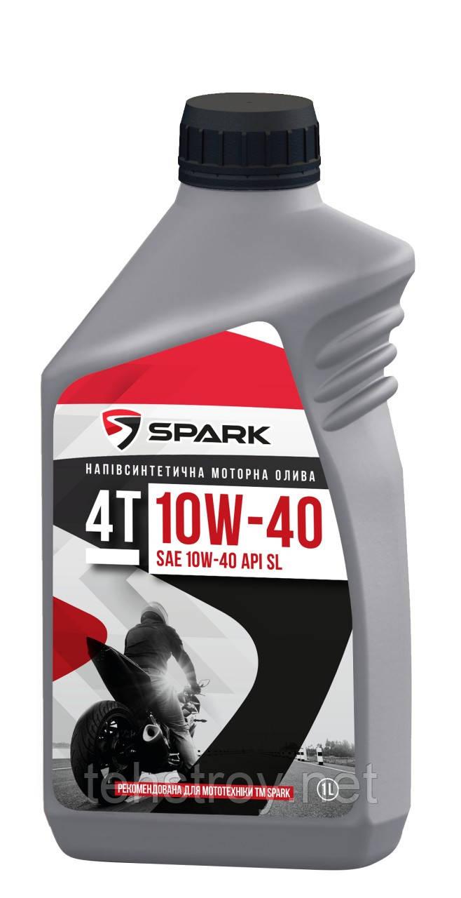 Масло моторное SPARK 4T 10W-40  API SL 1л