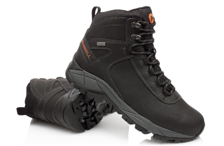 Зимові високі чоловічі черевики MERRELL VEGO, коричневий, натуральна шкіра р. 41-48
