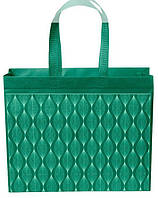 Еко сумка стандарт 38.5*32 см довга ручка Зелена