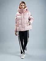 Зимняя модная короткая женская куртка-жилетка с латексом clasna cw19d-726cw M, L, XL
