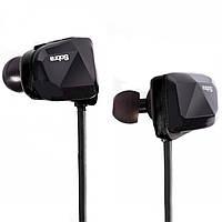 Спортивная беспроводная гарнитура SOBRA BT-06 черная bluetooth 4.0 наушники с микрофоном для телефона