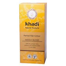 "Натуральная краска, Хна для волос ""Темный блонд"" Khadi, 100 г"