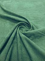 Ткань Микровельвет изумрудного цвета