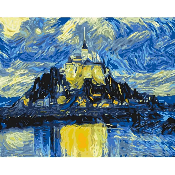 Раскраска по номерам Магический замок KHO2742 Идейка 40 х 50 см (без коробки)