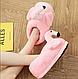 Плюшевые домашние тапочки Фламинго светло розовые универсальный размер 36-41 стелька 27, фото 2