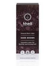 """Натуральная краска для волос, Хна для волос """"Темно-Коричневый"""" Khadi, 100 г"""