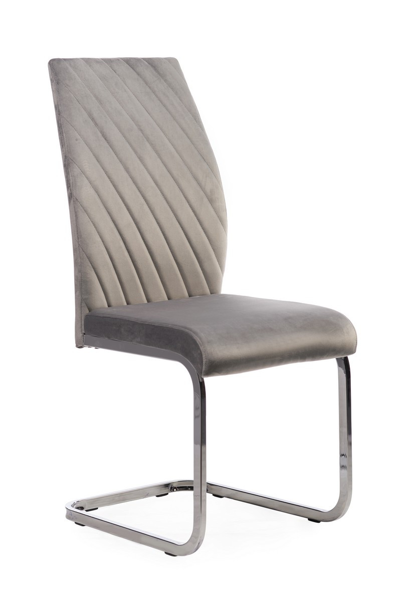 Вельветовый стул S-118 серый от Vetro Mebel, вельвет