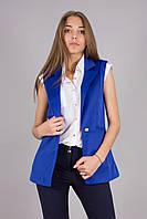 Модный жилет с карманами с отложным воротником, фото 1