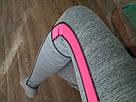 Спортивные лосины серые с розовым №33 — (M,L,XL) леггинсы для спорта, фото 6