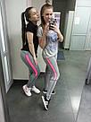 Лосины для фитнеса леггинсы для спорта розовые №33 — (M,L,XL) спортивные, фото 2