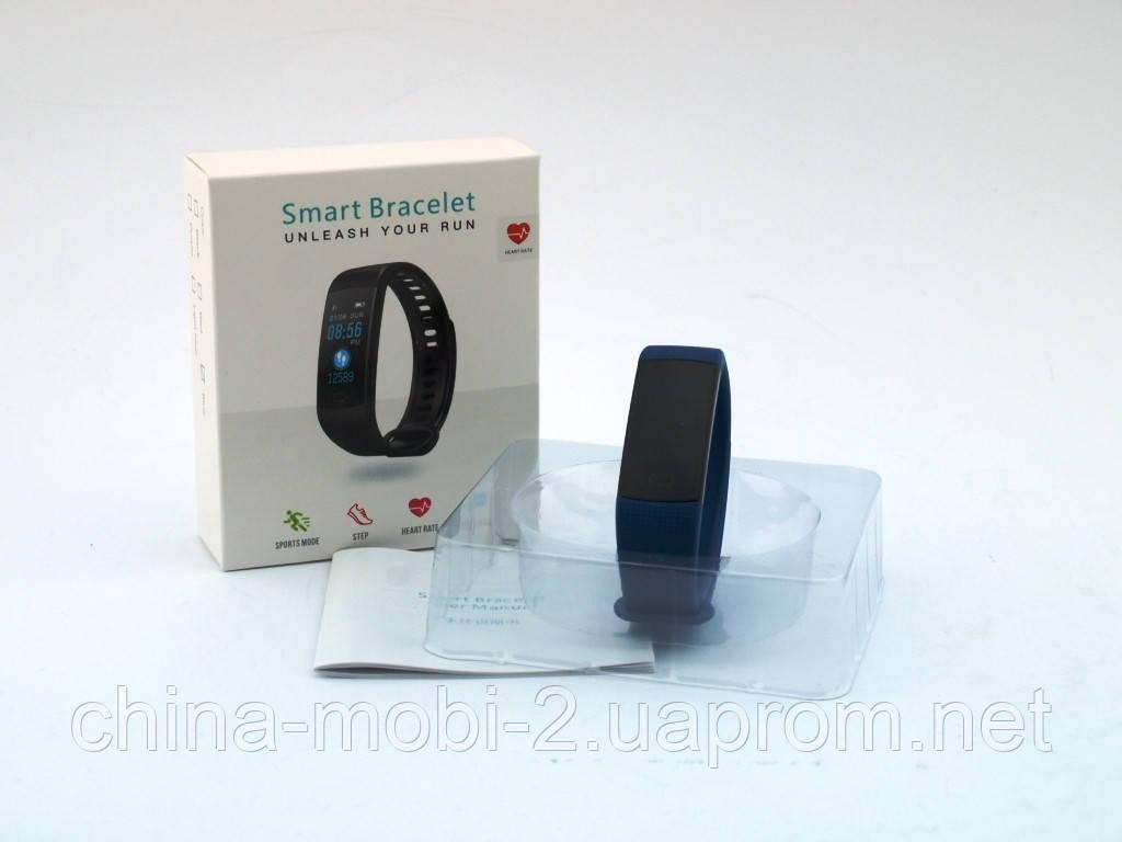 Smart Bracelet Y5 браслет-часы с измерением давления и пульса, синий