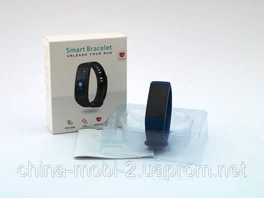 Smart Bracelet Y5 браслет-часы с измерением давления и пульса, синий, фото 2
