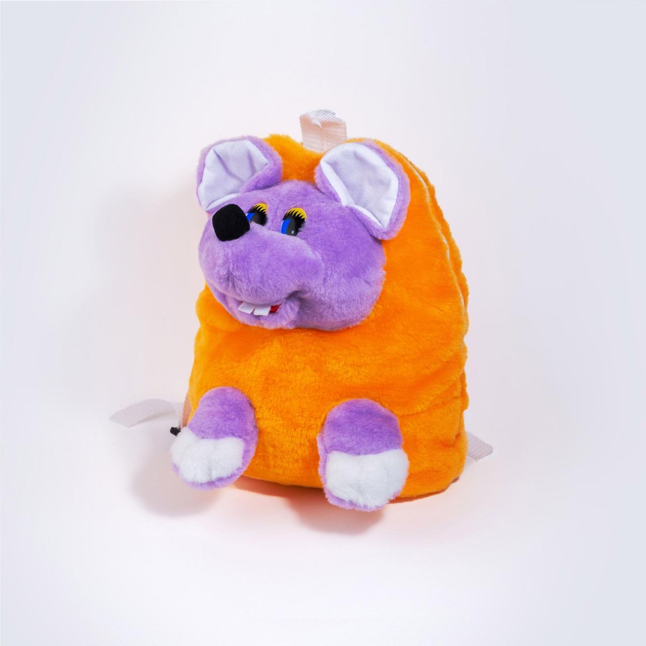 Детские рюкзаки для школы, детский рюкзак Мышка сиреневый
