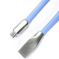 ✹Кабель браслет Lesko microUSB/USB 2.0 Синий для компьютера смартфона