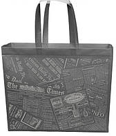 Еко сумка XXL 42*35 см газетка довга ручка