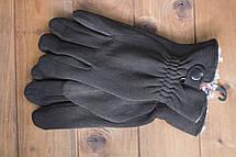 Мужские зимние стрейчевые перчатки + кролик 8192, фото 2