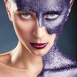 MEHRON Рассыпчатые блестки Paradise Glitter, Purple (Пурпурный), 7 г, фото 2