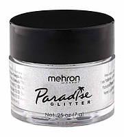 MEHRON Рассыпчатые блестки Paradise Glitter, White (Белый), 7 г, фото 1