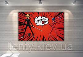 "Плакат для Кенди - бара 120х75 см (Тематический) ""Леди Баг"" (красный) -"