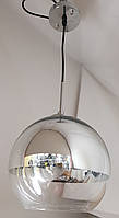 Люстра-светильник подвесной 011/1, малыйстеклянный зеркальный шар 200мм.