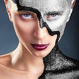 MEHRON Рассыпчатые блестки Paradise Glitter, Black (Черный), 7 г, фото 2