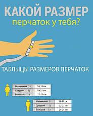 Мужские стрейчевые перчатки кролик Средние 8192s2, фото 2