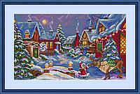 """Набор для вышивания крестом """"Рождественский гость"""" Мережка"""