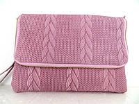 Стильная женская сумочка-клатч 100% кожа. Италия.  Розовый