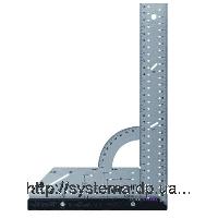 Универсальный угольник  WOLFCRAFT со шкалой 0°-90°, 200х300 мм