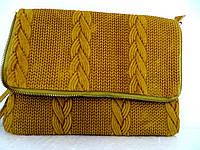 Стильная женская сумочка-клатч 100% кожа. Италия.  Оливковый
