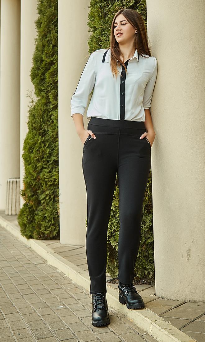 Повседневные женские теплые брюки