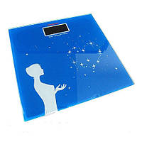 Весы напольные Domotec MS 1604 до 180 кг квадратные сердце из звезд